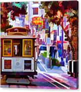 Cable Car At The Powell Street Turnaround Canvas Print