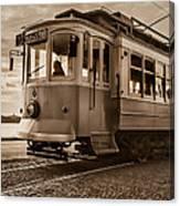 Cable Car In Porto Portugal Canvas Print