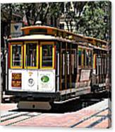 Cable Car - San Francisco Canvas Print