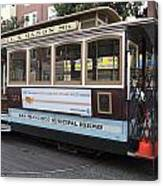 Cable Car Turn-around At Fisherman's Wharf Canvas Print