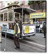 Cable Car Turn Around Fisherman's Wharf Canvas Print
