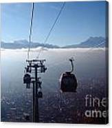 Cable Cars Over La Paz City Canvas Print