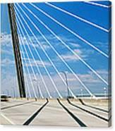 Cable-stayed Bridge, Arthur Ravenel Jr Canvas Print