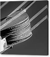 Cables And Pulleys Canvas Print