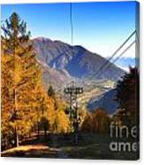 Cableway In Autumn Canvas Print
