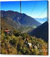 Cableway Over The Mountain Canvas Print