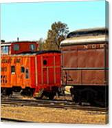 Caboose And Car Canvas Print