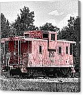 Caboose At Rest Canvas Print