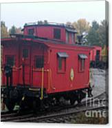 Caboose On The Tracts Canvas Print