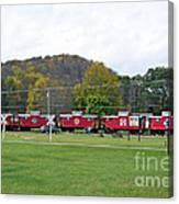 Cabooses In Upstate New York Canvas Print