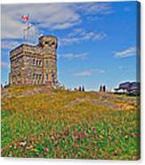 Cabot Tower In Signal Hill National Historic Site In Saint John's-nl Canvas Print