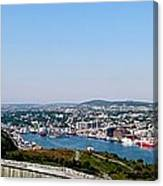 Cabot Tower Overlooking The Port City Of St. John's Canvas Print