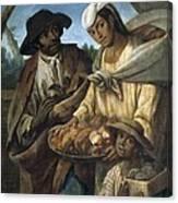 Cabrera, Miguel 1695-1768. De Lobo Y De Canvas Print