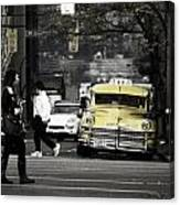 Cabs Here Canvas Print