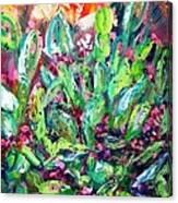 Christmas Cactus Joy Canvas Print
