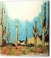 Cactus With A 'tude Canvas Print