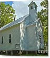 Cades Cove Baptist Church Canvas Print
