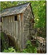 Cades Cove Grist Mill Closeup Canvas Print