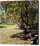 Cades Cove House And Split Rail Fence Canvas Print