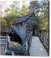 Cade's Cove Mill In The Fall Canvas Print