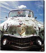 Cadillac At The Beach Canvas Print