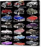 Never Enough Cadillacs  Canvas Print