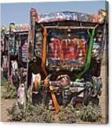 Cadillac Ranch Along Route 66 Canvas Print