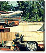Cadillacs In Decay Canvas Print