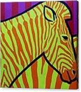Cadmium Zebra Canvas Print