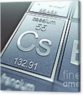 Caesium Chemical Element Canvas Print