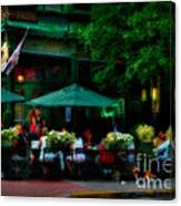 Cafe Alfresco Canvas Print