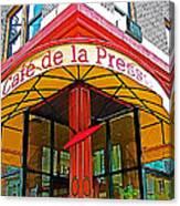 Cafe De La Presse In San Francisco-california  Canvas Print