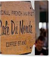 Cafe Du Monde Sign Canvas Print