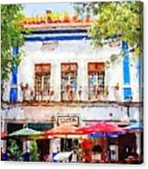 Cafe En Guanajuato Canvas Print