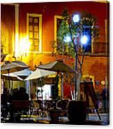 Cafe Evening Canvas Print