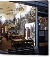 Cafe Italiano Night Usa Canvas Print