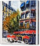 Cafe Le Champ De Mars Canvas Print