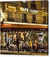Cafe Luna Canvas Print