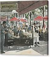 Cafe Metropole Canvas Print
