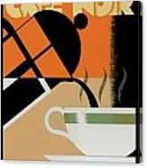 Cafe Noir Canvas Print
