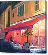 Cafe Scene Cannes France Canvas Print