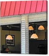 Cafe Seaside Canvas Print