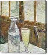 Cafe Table With Absinth Canvas Print