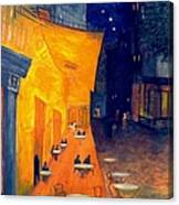 Cafe' Terrace At Night  Canvas Print