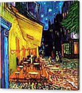 Cafe Terrace Place Du Forum At Night  Canvas Print