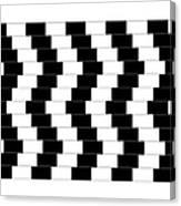 Cafe Wall Illusion Canvas Print