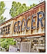 Caffee Grocery Canvas Print