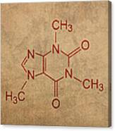 Caffeine Molecule Coffee Fanatic Humor Art Poster Canvas Print