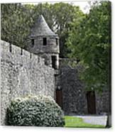 Cahir Castle Wall And Tower Canvas Print