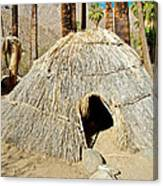 Cahuilla Indian Dwelling In Andreas Canyon In Indian Canyons-ca Canvas Print
